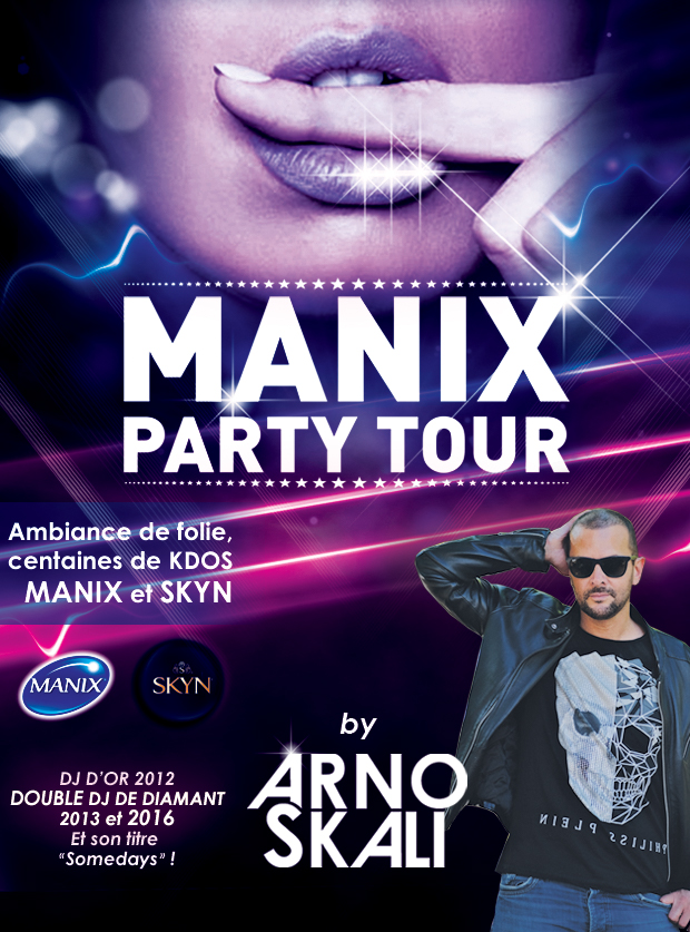 poster manix party tour